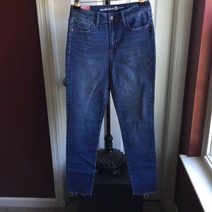Max Studio Blue Skinny High Rise Stretch Jeans